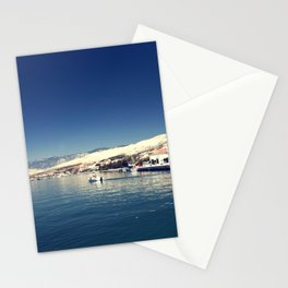 White and dark blue Stationery Cards