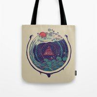 water Tote Bags featuring Water by Hector Mansilla
