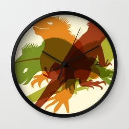Iguanas Wall Clock