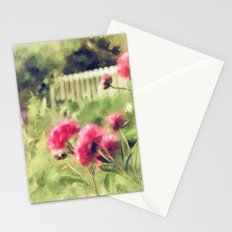 Pink Peonies In A Vintage Garden Stationery Cards
