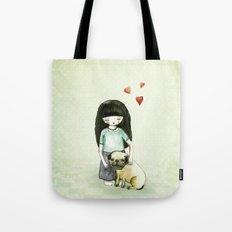 Pug is my best friend Tote Bag