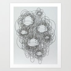 New Line Drawing Art Print