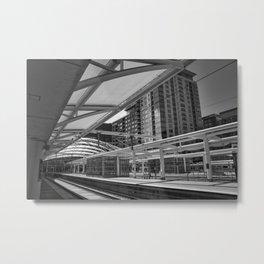 Denver Light Rail Platform At Union Station Metal Print