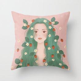 Strawberry Fairy Throw Pillow