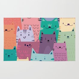Pastel Cats Rug