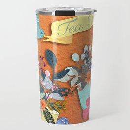 Tea Time With Flowers Travel Mug