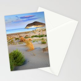 """Genoveses Beach"" Sunset at beach Stationery Cards"
