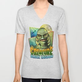 Creature From The Black Lagoon Unisex V-Neck