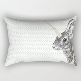 uni-hare All animals are magical Rectangular Pillow
