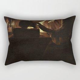 Georges de La Tour - The Repentant Magdalen Rectangular Pillow
