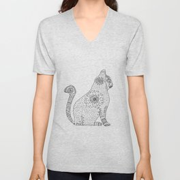Mandala Cat Unisex V-Neck
