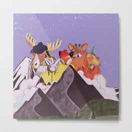 Friends in the mountains Metal Print