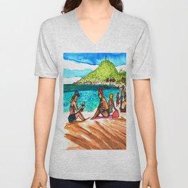 beach vibes haad rin beac thailand Unisex V-Neck