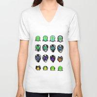 third eye V-neck T-shirts featuring Third Eye by Yuriy Miron