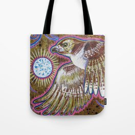 Soaring (Red-Tailed Hawk Painting) Tote Bag