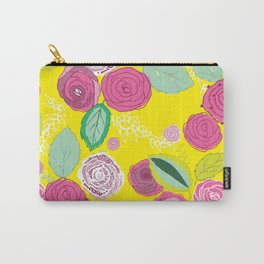 Belles Fleurs - roses bright pattern Carry-All Pouch