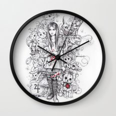 wonderland shattered Wall Clock