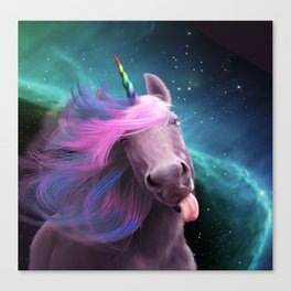 Sassy Unicorn Canvas Print