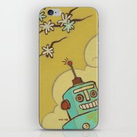 robot iPhone & iPod Skins featuring Robot by Willow Dawson