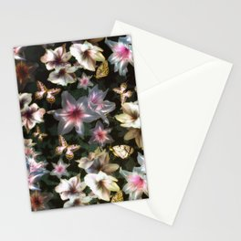 Amaryllis and Butterflies Stationery Cards