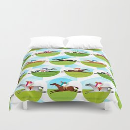 Race Day Duvet Cover