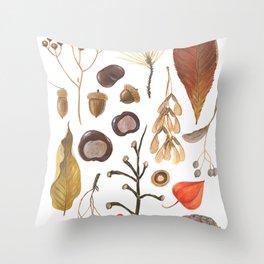 Autumn treasure chest Throw Pillow