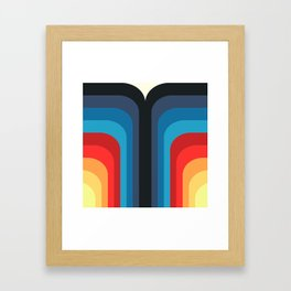 Retro Rainbow 01 Framed Art Print