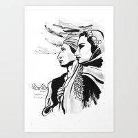 Mahmoud Reda & Farida Fahmy Art Print