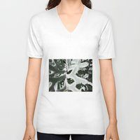 shadow V-neck T-shirts featuring Shadow by Darkest Devotion
