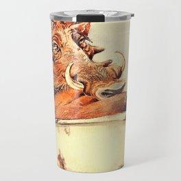warthog's bath Travel Mug