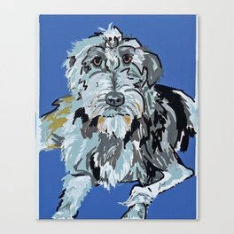 Irish Wolfhound Dog Portrait Canvas Print