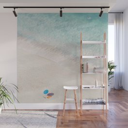 The Aqua Umbrella Wall Mural