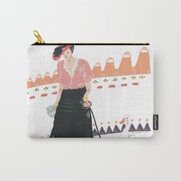 Woman with duck Carry-All Pouch