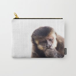 Thinking Capuchin Monkey Carry-All Pouch