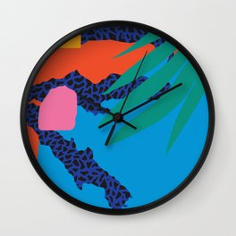 Tropical Cocktail by Zulu Zion Wall Clock