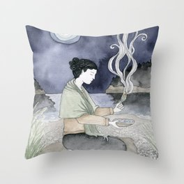 Sage Cleansing Throw Pillow