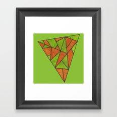 Orange loves green Framed Art Print