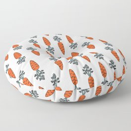 Carrots meet carrots Floor Pillow