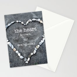 The Heart Knows No Boundaries Stationery Cards
