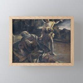 Giovanni Lanfranco - The Prophet Elijah in the Desert Awakened by an Angel Framed Mini Art Print