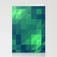 seahawks Stationery Cards featuring Polygon Nine by Jambot