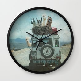 ALPACA WANDERLUST II SUMMER EDITION Wall Clock