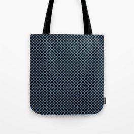 Black and Niagara Polka Dots Tote Bag