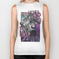 feminism Biker Tanks featuring Feminism 2 by Alaska Ferreira