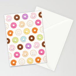 Happy Cute Donuts Pattern Stationery Cards