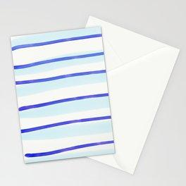blue stripe paints Stationery Cards