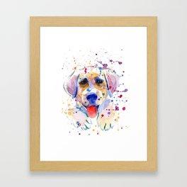 White labrador puppy portrait Framed Art Print