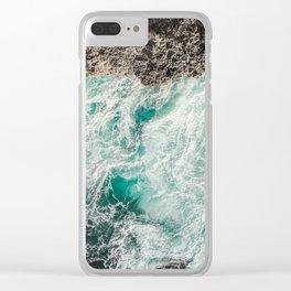 Ocean Textures Clear iPhone Case