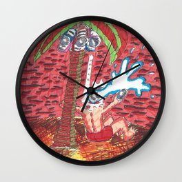 Coconut Paints Wall Clock