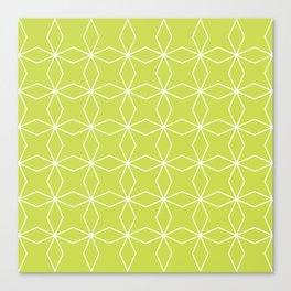 Rhombus Pattern, Yellow Green Canvas Print